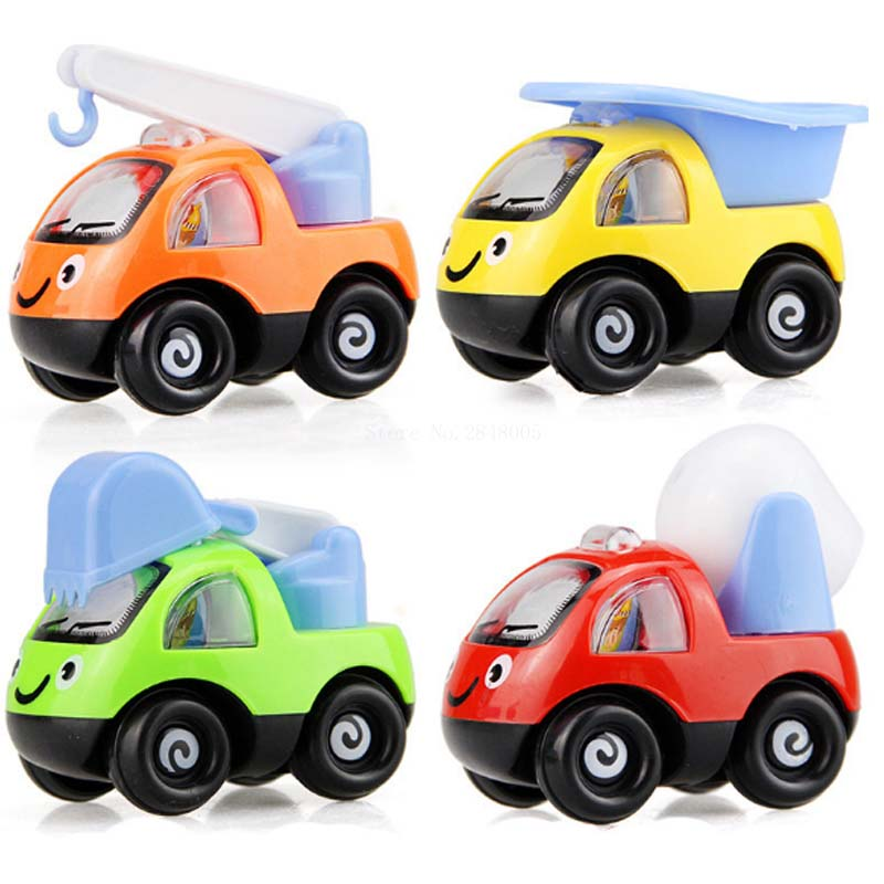 1pcs Pull Back Toys Car Children Racing Car Baby Mini Cars Cartoon Pull Back Bus Truck Kids Toys For Children Boy Gifts