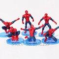Ação brinquedos The Avengers Spiderman PVC Action figure toys Varejo 6 pçs/set 7-11 cm
