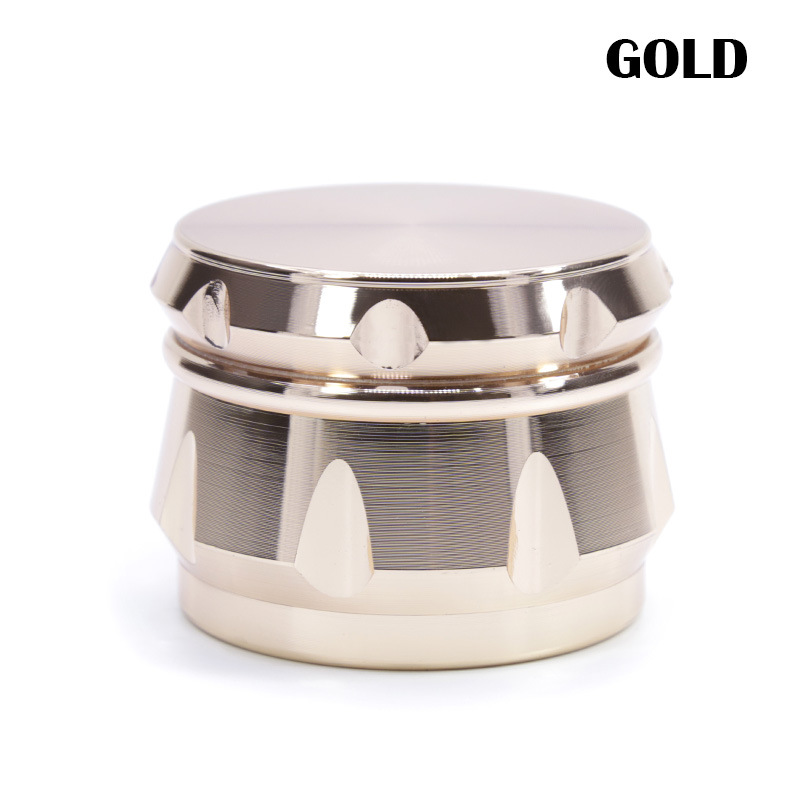63mm 4Levels Herb Grinder Weed Crusher Smoke Smoking Accessories Zinc Alloy Diamond Shape Chamfer Side Concave Super Shredder