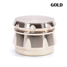 63mm 4Levels Herb Grinder  Crusher Smoke Smoking Accessories Zinc Alloy Diamond Shape Chamfer Side Concave Super Shredder
