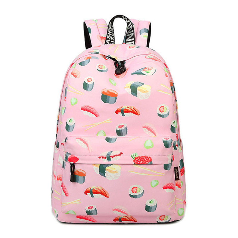 Delicious Sushi Backpack Fashion Women Shoulder Bag Children Schoolbag Leisure Ladies Knapsack Laptop Travel Bags Girl Best Gift stylish sushi tool vegetables combine with meat sushi machine