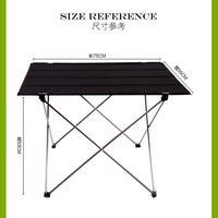Outdoor Ultralight Portable Folding Desk Aluminum Alloy Table For Fishing Picnic Durable Folding Table Desk