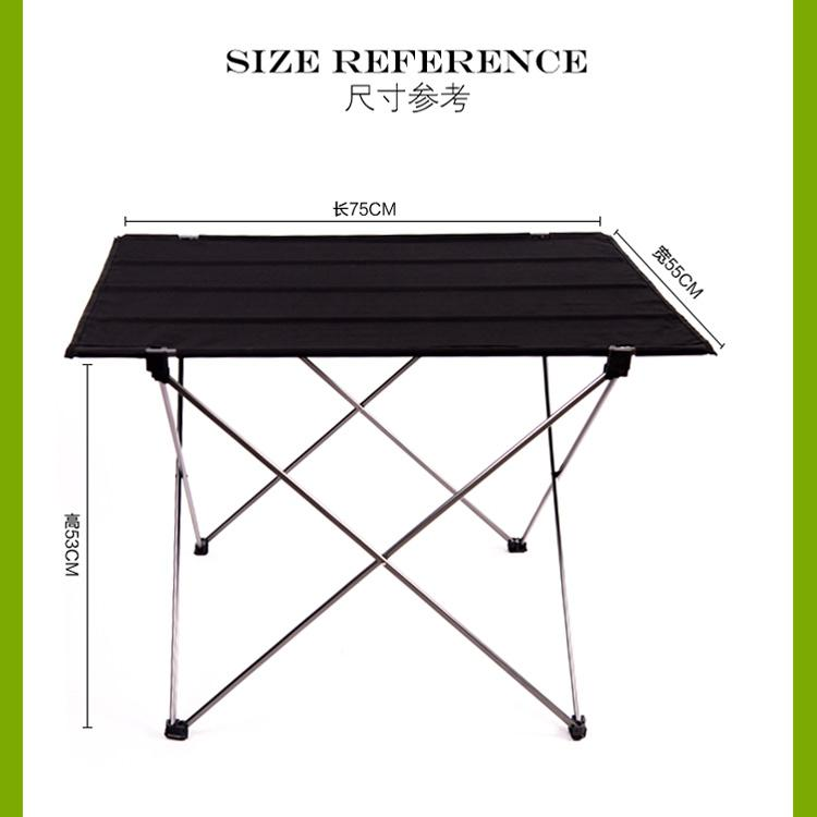 Online buy wholesale folding table size from china folding for Table th font size
