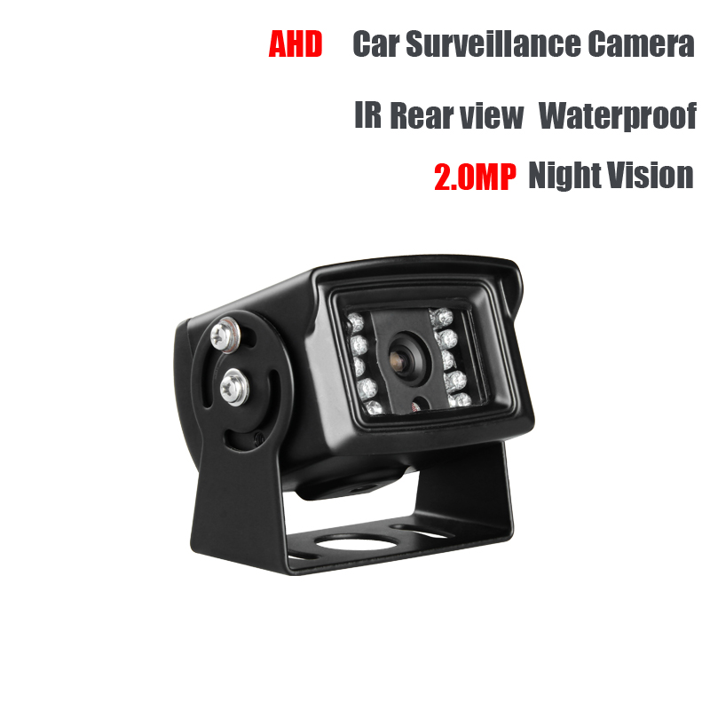 AHD 2.0MP Truck Backup Camera Waterproof Lorry Car Rear View Camera Vans School Bus Reverse Camera IR Night Vision Free shipping mool 100 feet pre made siamese bnc video and power cable ready to go for security camera cctv systems