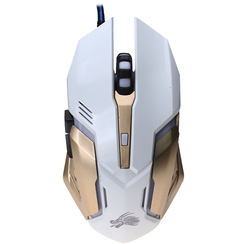 Professional 3200 DPI bEITAS X10 USB Gaming Mouse Wired Game Mice with 3 Color LED Backlight Ergonomic Design for Pro Gamer
