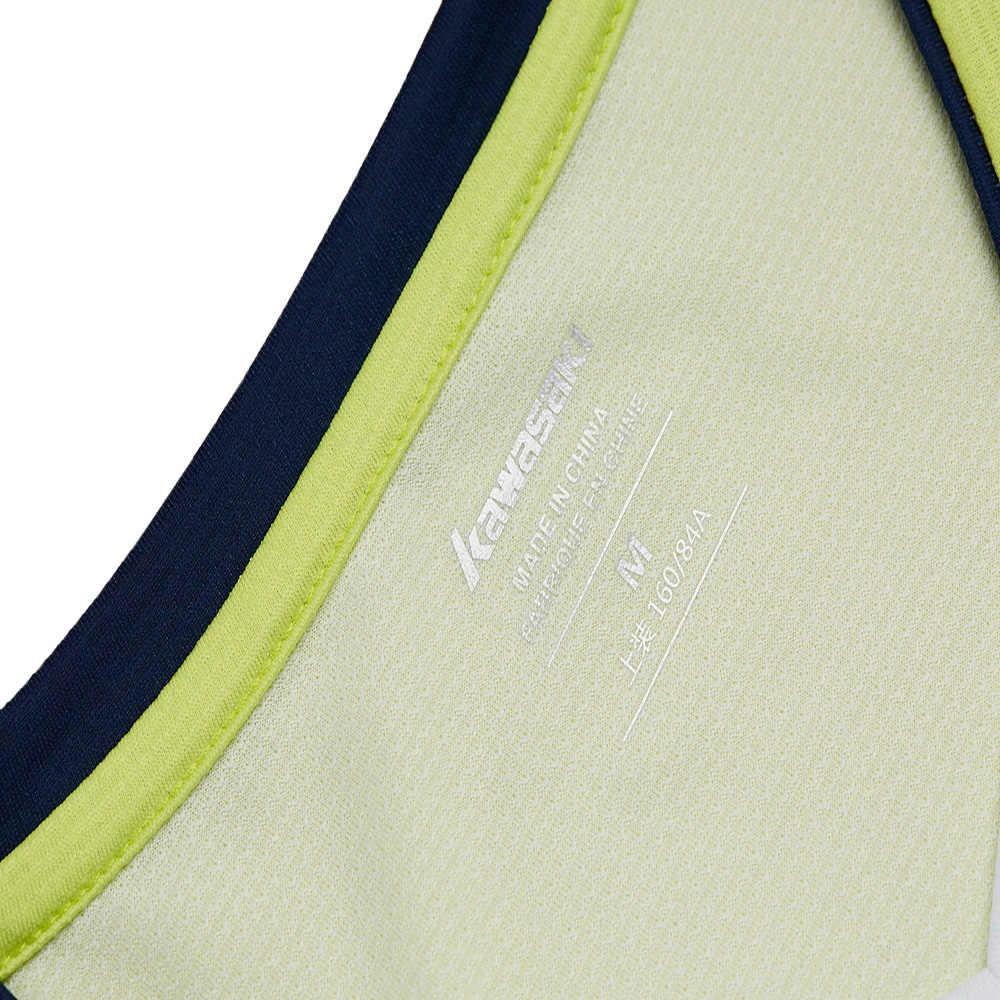 Kawasaki футболка для бадминтона мужские быстросохнущие дышащие футболки для тренировок с коротким рукавом Мужская спортивная одежда ST-S1121