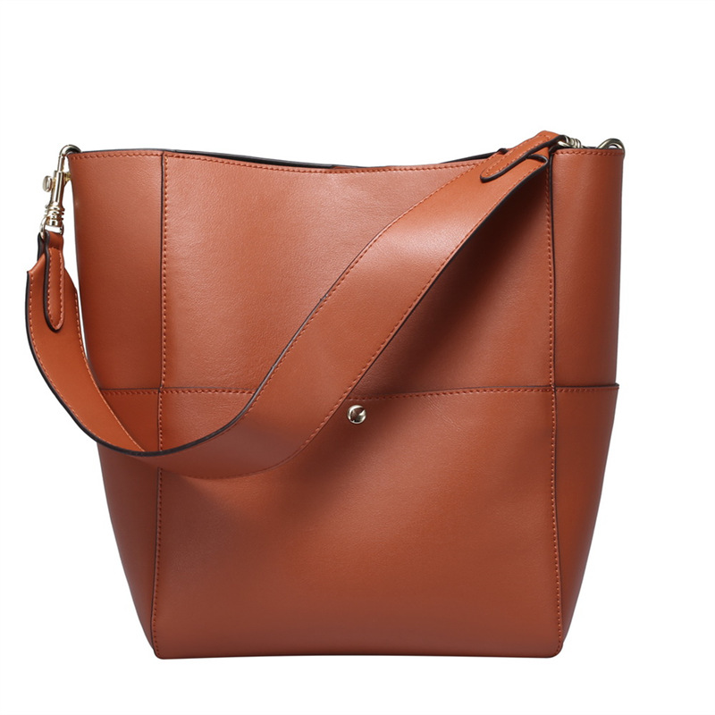 Fashion Oil Wax Split Leather Tote Women Handbags Ladies Shoulder Bag Casual Messenger Crossbody Bag Top-Handle Bags #Q0755 women handbag shoulder bag messenger bag casual colorful canvas crossbody bags for girl student waterproof nylon laptop tote