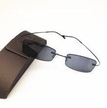 Eyesilove terminou sem aro miopia óculos de sol ultra leve frameless pronto feito míopia óculos de sol miopia cinza cor