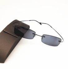 Очки без оправы eisilove, солнцезащитные очки для близорукости, ультралегкий светильник, готовые очки для близорукости серого цвета