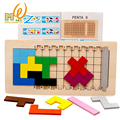 Candice guo! educational wooden toy colorful cube mystery logical thinking puzzle game children toy gift 1pc