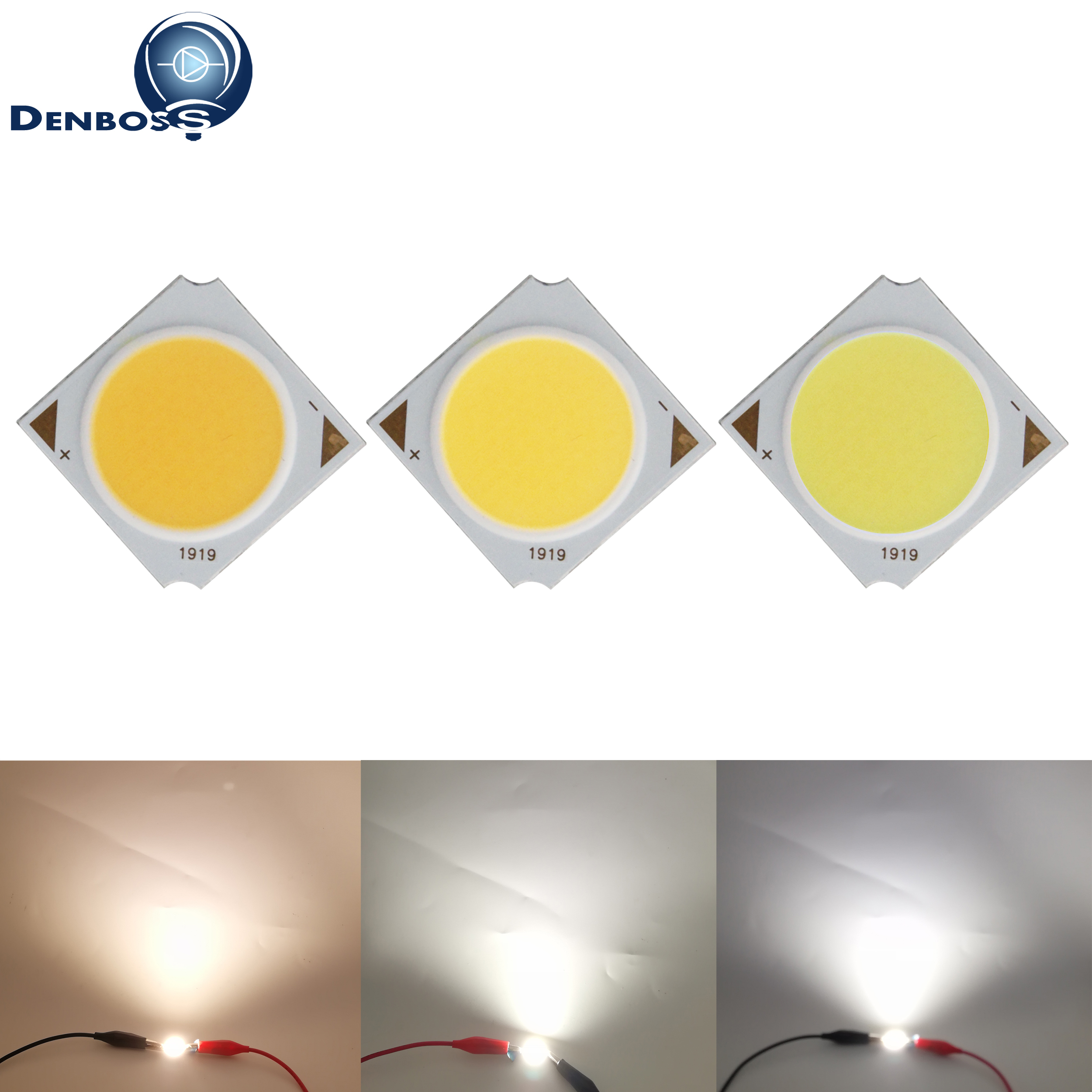 Manufacturer 19mm 17mm Square Aluminum Board LED COB Strip Light Source Module 10W 15W 20W 30W COB Bulb Lamp Epistar Chip