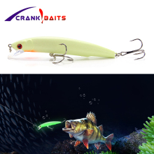 CRANK BAITS 3D Luminous Night Bait Fishing Minnow Lure 1Pcs 11cm 17g Isca Artificial Hard Warped Bass Crank Tackle YB232