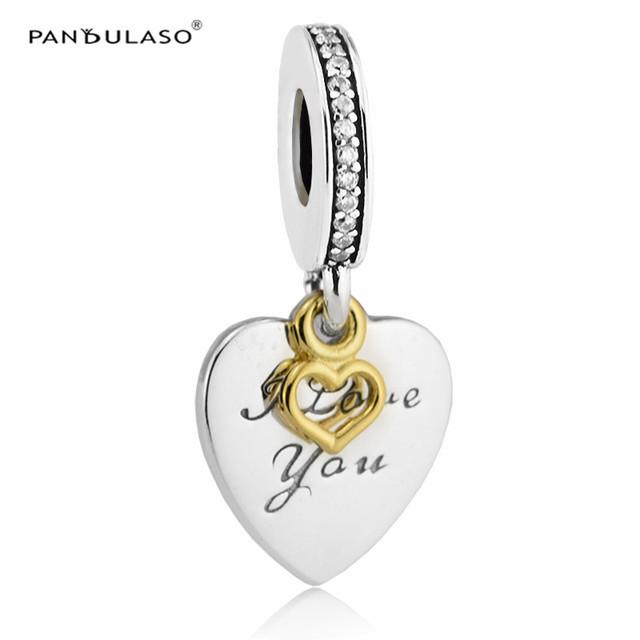 Te amaré Por Siempre Beads Fit Pandora Charms Pulseras de Oro para Las Mujeres de Plata 925 Original DIY Bijouterie NUEVO Día de San Valentín Regalos