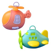 Baby Toy Rattle Baby Toy Cartoon Mini Airplane Hand Bell Newborn Toy Car Hanging Bed Hanging Baby Rattle Wind Chimes Toys-TOY158(China)