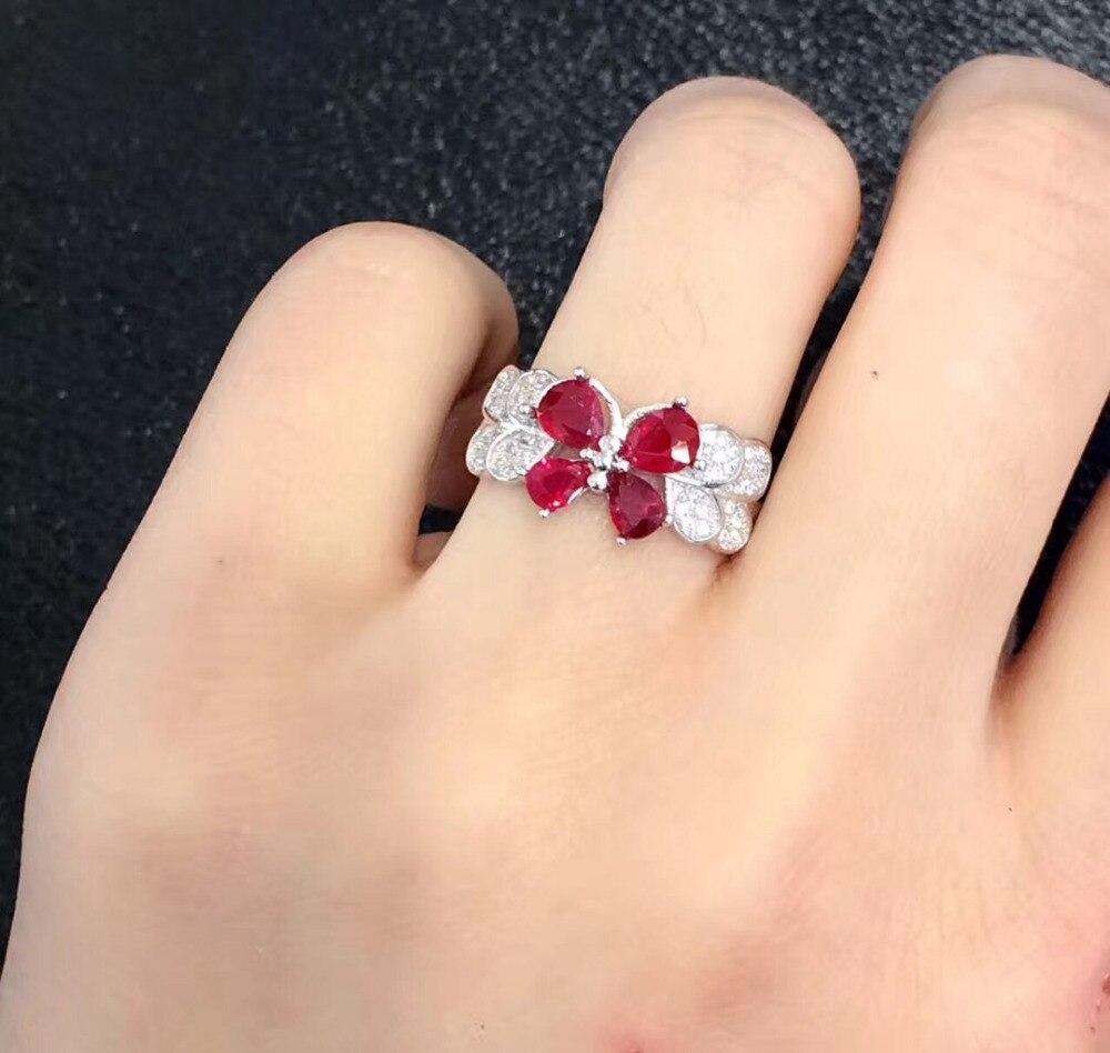Qi Xuan Fashion Jewelry Red Pietra Semplice Ed Elegante Donna Rings S925 Solido Del Nastro di Modo di Rings Manufacturer Direttamente Le Vendite