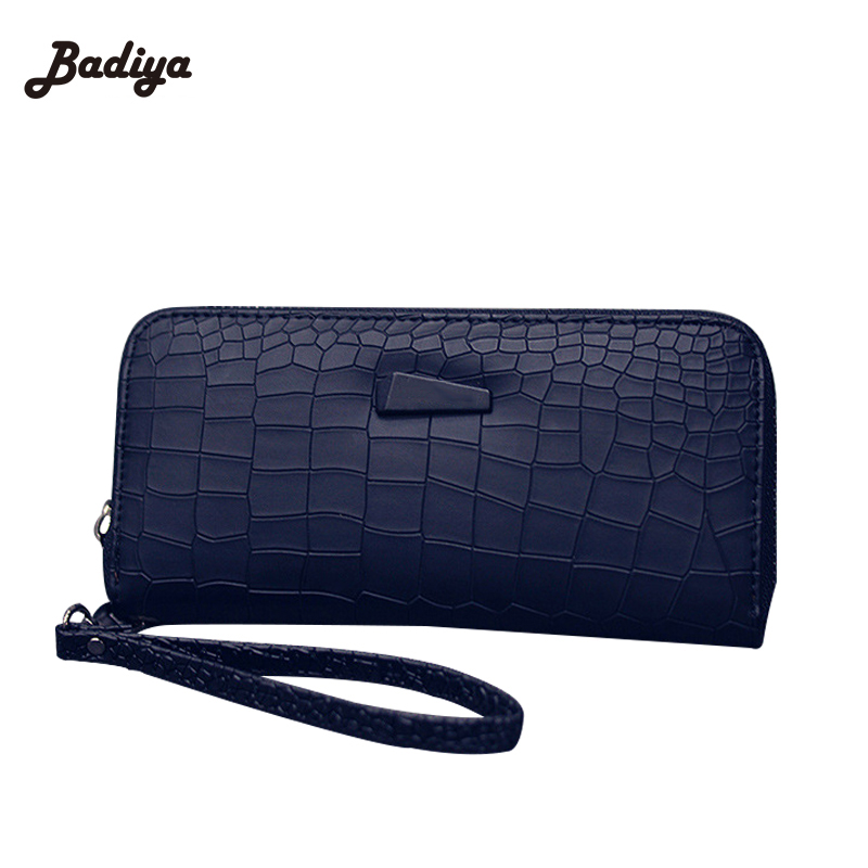 Fashion Women Clutch PU Leather Wallets Female Long Wallet Stone Grain Coin Purses Mobile Phone Bags Lady Card & ID Holders 2017 black pu leather wallet women stone grain wallets brand long design fashion coin purses for women with high quality qd018