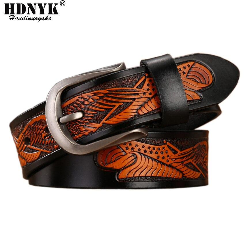 2019 Hot Classical Designer   Belt   for Men Famous Luxury Men   Belts   Male Waist Strap Genuine Leather Eagle   Belt