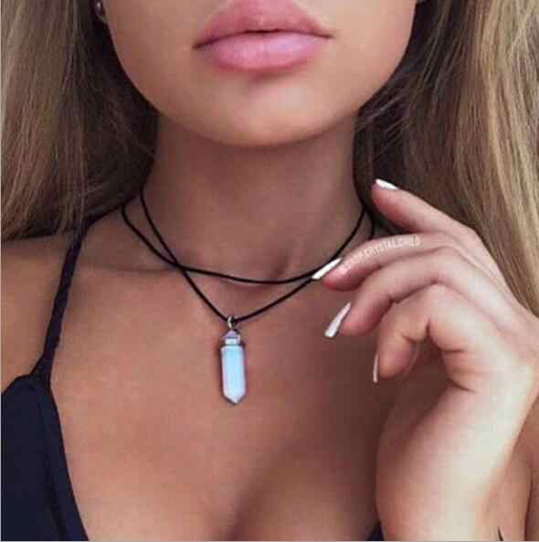Seblasy Hot Sale Infinity Leaves Hamsa Hand Star Moon Crystal Heart Chain Necklaces & Pendants for Women Valentine's Day Gifts