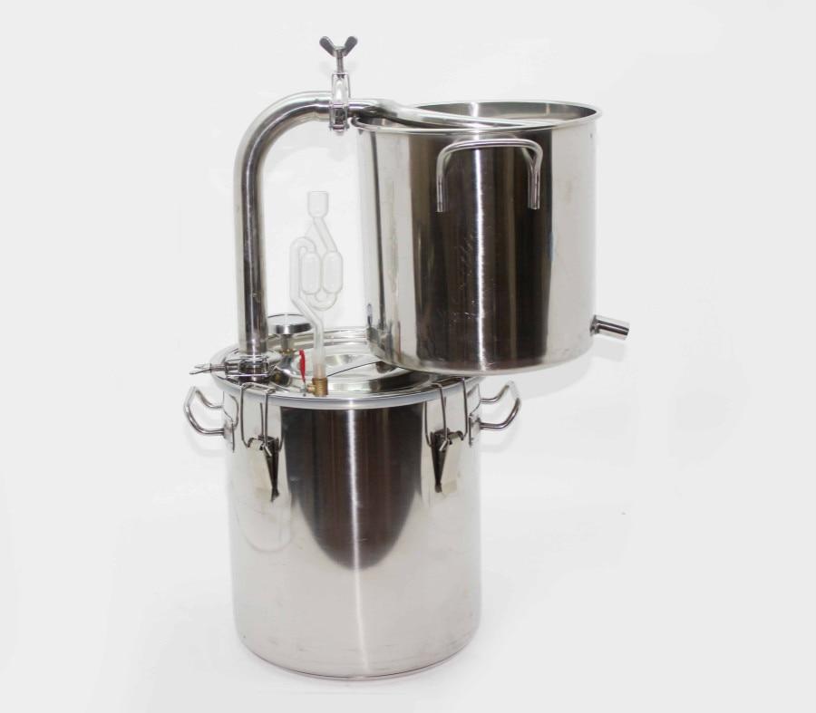 Home Water Distillation Equipment ~ L stainless steel distiller spirits alcohol distillation