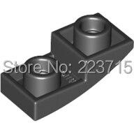 *Plate W. Half Bow Inv. 1X2X2/3* 100pcs DIY Enlighten Block Brick Part No.24201 Compatible With Other Assembles Particles