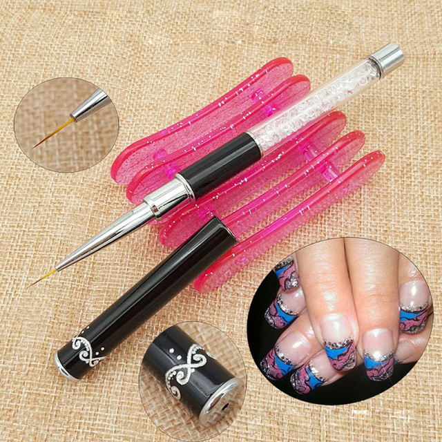 New Nail Brushes Uv Gel Polish Lining Ultra Thin Brush Tip 3d ...