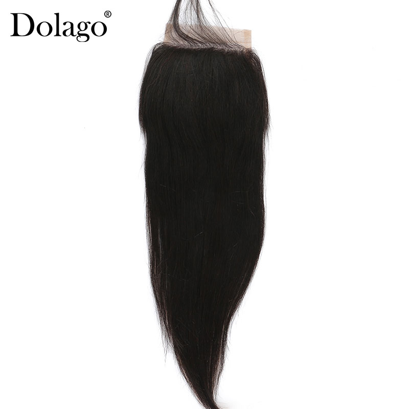 Yaki Straight 5x5 Lace Closure With Baby Hair Around Pre Plucked Light Yaki Human Hair Closure Dolago Brazilian Remy Hair