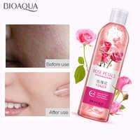 Bioaoua pétalas de rosa essência água toners rosto encolher poros anti-envelhecimento clareamento hidratante controle de óleo cuidados com a pele toner 250ml