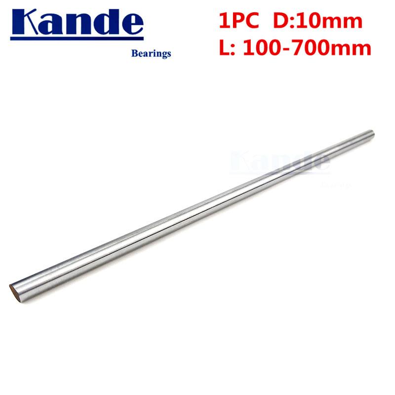 Kande Bearings 1pc d:10mm 230mm 3D printer rod shaft 10 mm linear shaft 230mm chrome plated rod shaft CNC parts 100-600mmKande Bearings 1pc d:10mm 230mm 3D printer rod shaft 10 mm linear shaft 230mm chrome plated rod shaft CNC parts 100-600mm