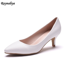 2018 Fashion Women Summer Mes High Heels Shoes Sexy Women Pumps Pointed Toe Slip-On Shoes Thin Heel White Wedding Shoes XY-A0073 цена в Москве и Питере