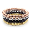 2017 Men Women Fashion 6MM Copper Round Beads Classic Strand Bracelets Jewelry For Lover's Jewelry Gift