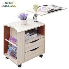 Модный стол для ноутбука деревянная стойка офисный стол с ящиком компьютерный стол может быть перемещен складной стол Спальня прикроватный шкаф