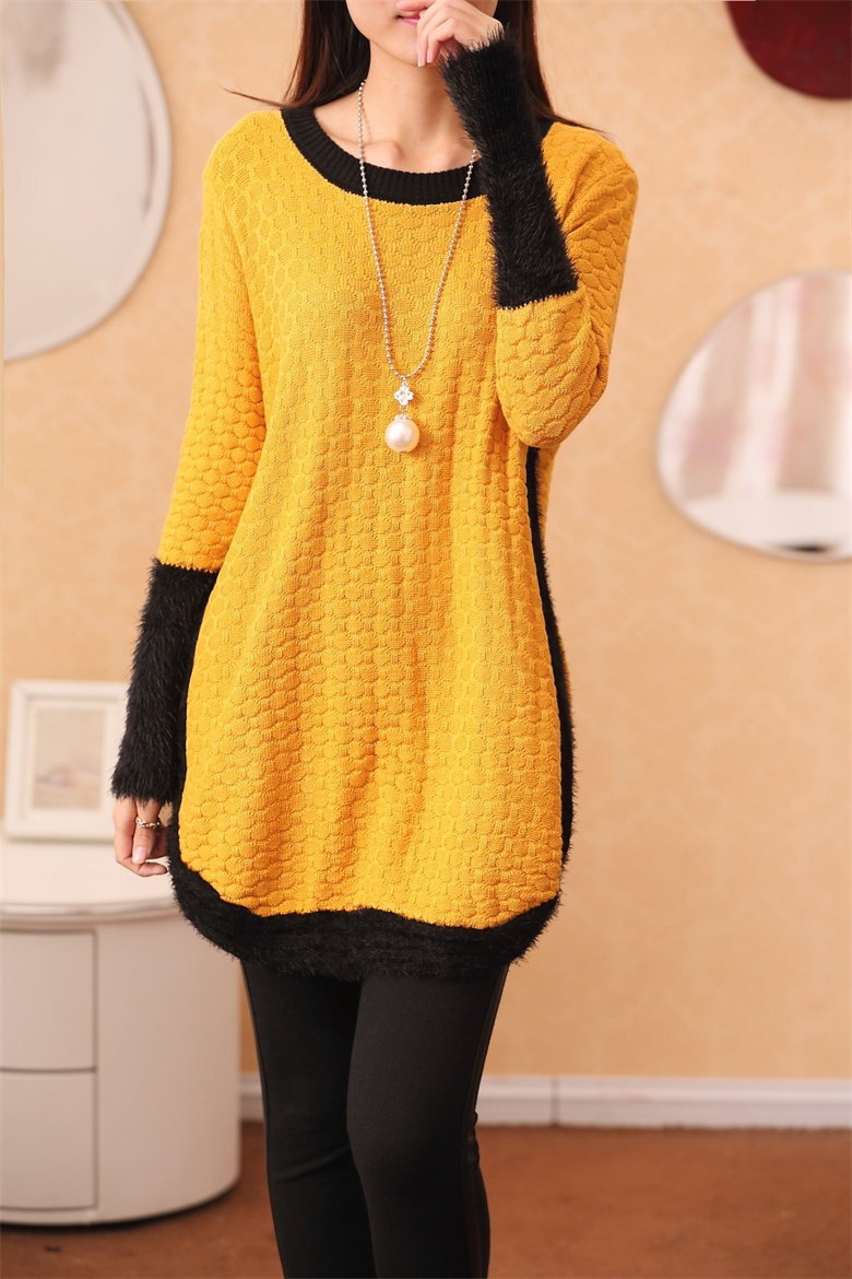 2017 New Winter Women Sweater Dress Elastic Long Pullovers Woman ...