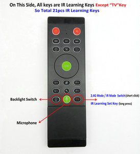 Image 3 - TK60 Backlight 2.4G Lucht Muis Toetsenbord Touchpad Voice 21 IR Leren voor Android Smart TV Box PC PK MX3 t3 T6 H18 afstandsbediening