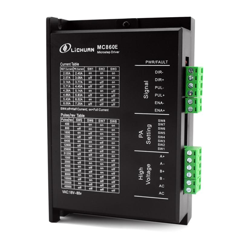 2 phase NEMA34 hybrid schrittmotor fahrer DSP AC/DC48V MC860E ersetzen DM860