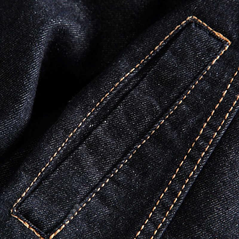 DIMUSI wiosna jesień mężczyzna kurtka dżinsowa mężczyzna modna moda Bomber cienka zgrywanie kurtka dżinsowa mężczyzna kowbojski dżins kurtki 4XL,TA341