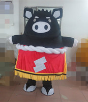 Latest high quality high quality black pig mascot costume adult pig mascot costume Holiday special clothing