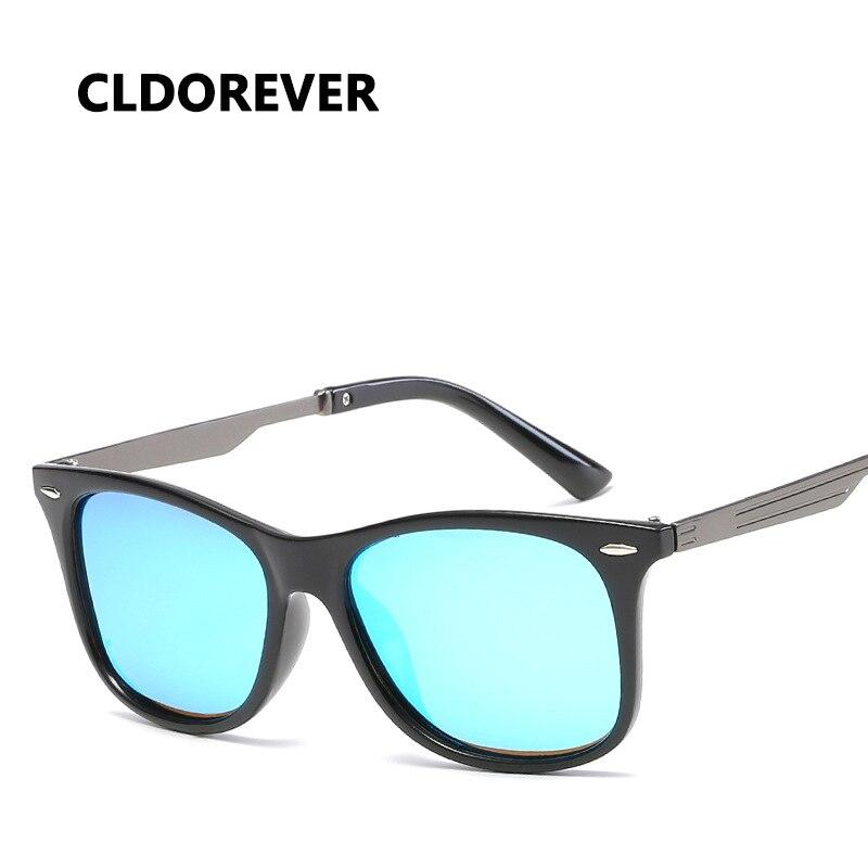 Новый 2018 Винтаж Солнцезащитные очки для женщин Для мужчин Поляризованные Ретро квадратное зеркало Защита от солнца Очки для Для мужчин S Бр...