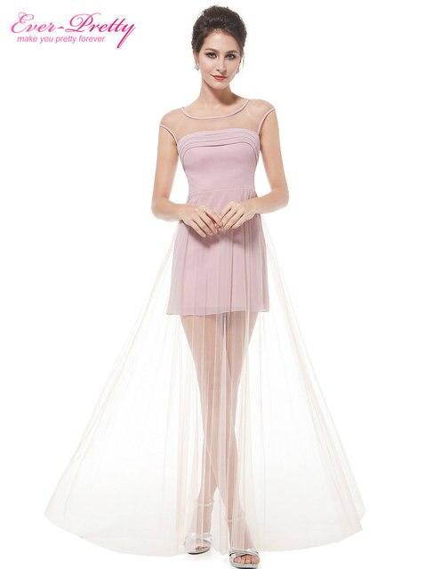 6227c263840d Women Dresses Ever Pretty HE08442PK Elegant Semi-Sheer Pink Long Women  Clothing Sexy Casual Dress