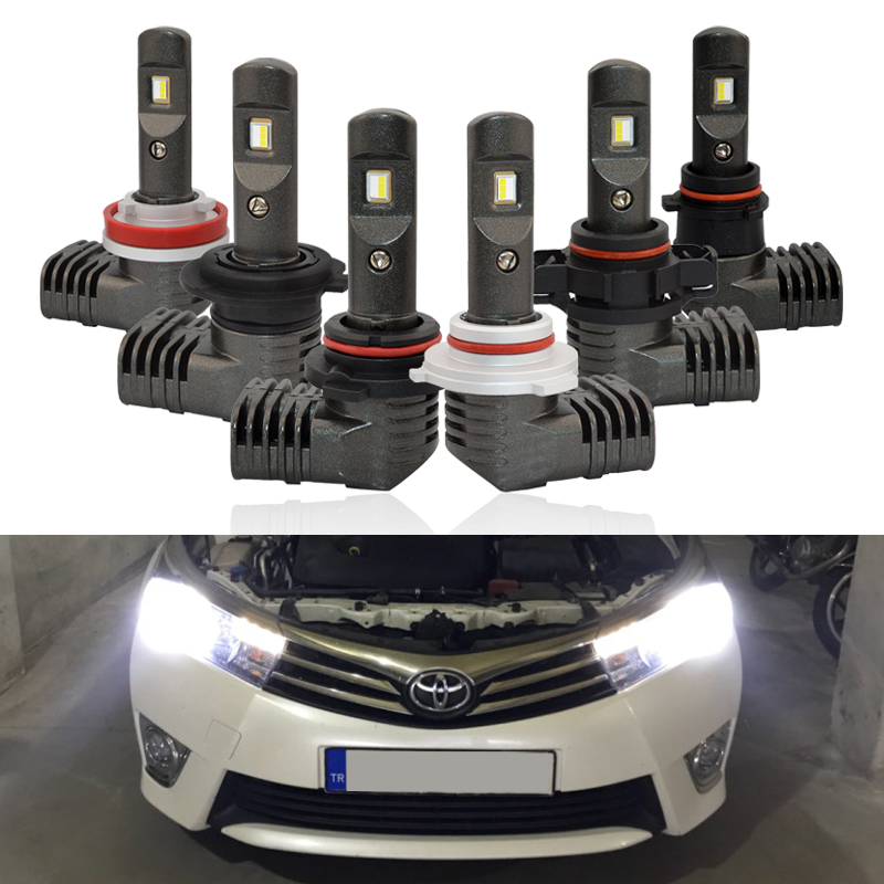 <font><b>CAN</b></font>-<font><b>bus</b></font> New P10 Mini Size <font><b>Led</b></font> Headlight Kits <font><b>H7</b></font> H8 H9 H11 PSX24W PSX26W 9005 9006 Auto Headlamp Fog Light Bulbs DC12V 24V image