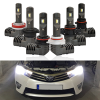 CAN bus New P10 Mini Size Led Headlight Kits H7 H8 H9 H11 PSX24W PSX26W 9005 9006 Auto Headlamp Fog Light Bulbs DC12V 24V