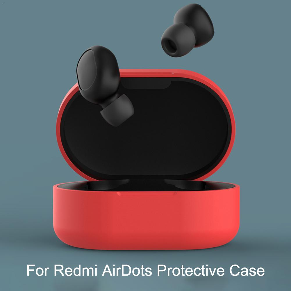 Image 3 - Anti Shock Comprehensive Protective Case Full Cover For Xiaomi Redmi Airdots TWS Bluetooth Earphone Youth Headset Accessories-in Earphone Accessories from Consumer Electronics