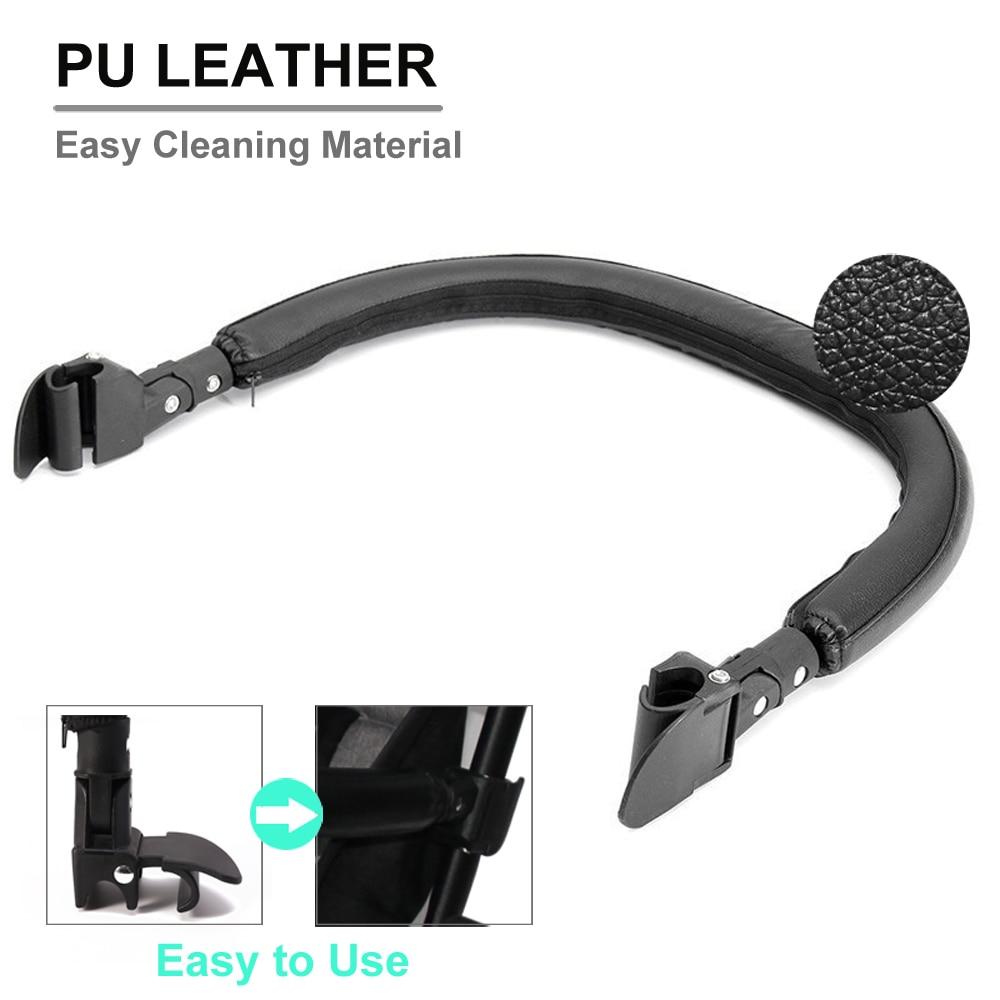 New Baby Stroller Armrest Bumper Bar Handlebar Grip Secure Hand Leather Cover Pram Accessories For Babyzen YOYO YOYO+ Carriage