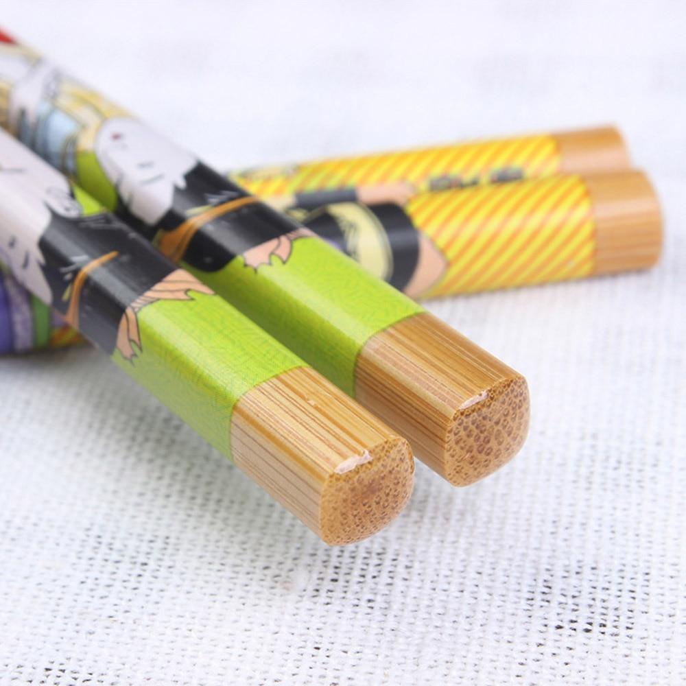 5 Pcs Handmade Bamboo Japanese Chopsticks Kitchen Handmade-Set New
