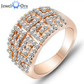 Italina Style Vintage Gold Ring Crystals Rose Gold Plated Filled Mice Medusa Exaggerated Ring (JewelOra Ri100741)