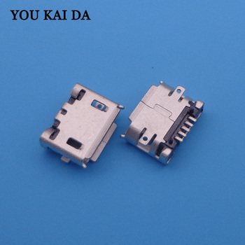 1000pcs/lot Brand new SMD feet 5p Micro usb Jack Connector Charging Socket for Sony Ericsson X10 X8 E10 E15 E16 J108 W100 phone