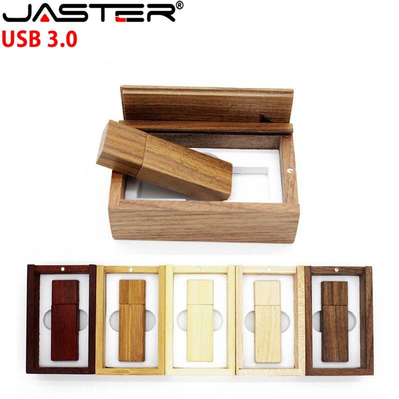 JASTER USB 3 0 LOGO customized Wooden usb BOX usb flash font b drive b font