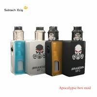 Elektrikli sigara Apocalypse Mod Kiti ile GEN 2 rda 24 MM ABS malzeme kutusu Mod Fit 18650 Pil Vape VS kalemler SMPL mod kitleri