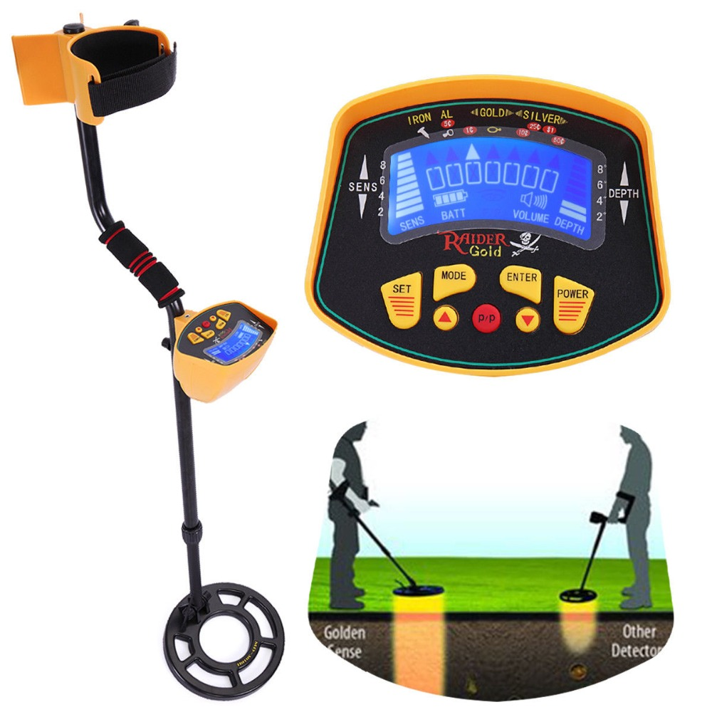 Professional Handheld Metal Detector LCD Display Gold Digger Light Hunter Deep Sensitive Search Tools 2018 Hot selling