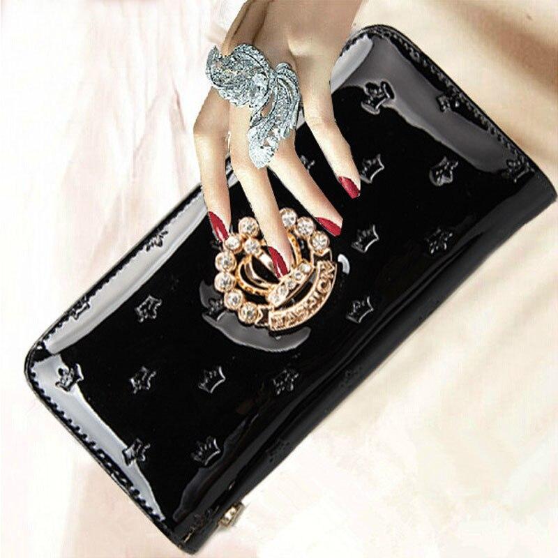 все цены на Woman Wallet Women Wallets and Purses Portefeuille Femme Crown Billeteras Mujer Marca Famosa Portafoglio Donna Carteras QB-057