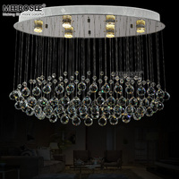 Oval Crystal Light Fixture Ceiling Mounted Living Room Bedroom Lamp Lustres De Cristals Home Lighting